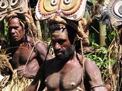 Close up of a Mansumai tribal costume