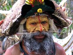 Crisscrossed nose-piercing