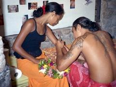 Getting inked; Tiki Village