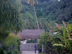 Village of Ha'apiti, gateway to our motu (island) off Moorea