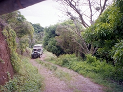 A 4-wheel drive vehicle is necessary to explore the interior of Moorea