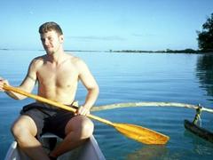 Exploring our Moorea motu by outrigger canoe