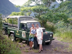 Stopping to admire the views of Moorea