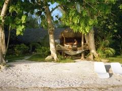 Dream Island beach (our bungalow mere feet away); Moorea Motu