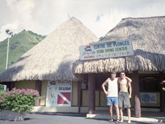 The best way to start our day - diving in Moorea was fantastic!