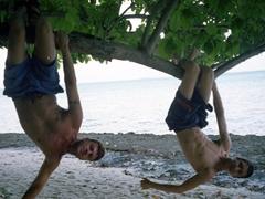 Robby and Luke monkeying around