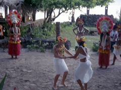 Dancing in front of the crowd at Tiki Village!