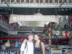 Getting ready to shop at the Municipal Market in Papeete