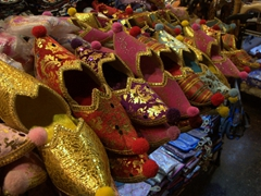Slippers for sale; Spice Bazaar