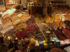 "Spice section of the Spice Bazaar (also known as the ""Egyptian Bazaar"")"