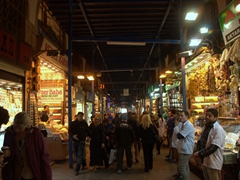 Interior view of Istanbul's Spice Bazaar