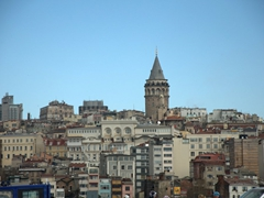 Distant view of Galata Tower