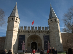 Entrance to the Topkapi Palace via the Babüsselam Gate