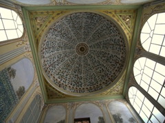 Decorated dome and wall paintings of the Apartments of the Queen Mother; Harem section of Topkapi Palace