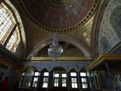 View of the Throne Room/Imperial Hall, a late 16th century hall which was the most important room of the Topkapi Palace