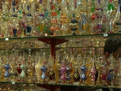Colorful glass perfume bottles; Grand Bazaar
