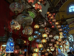 Lanterns on display at the Grand Bazaar