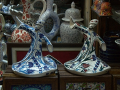 Porcelain whirling dervish souvenirs; Grand Bazaar
