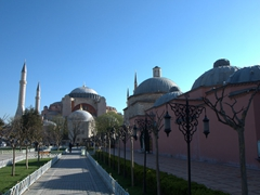 Early morning view of the Hagia Sophia