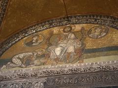 Imperial gate mosaic; Hagia Sophia