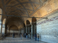 View of the Loge of the Empress (where she could inconspicuously watch rituals and ceremonies); Hagia Sophia west upper gallery