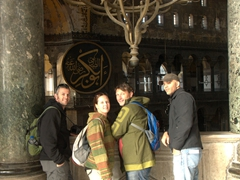 Robby, Kendra, George and Francisco marvel at the wonder of Hagia Sophia