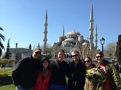 Group photo; Blue Mosque