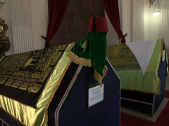 Empty caskets inside the mausoleum of Sultan Mahmut II