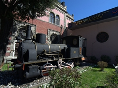 One of the first steam locomotives engines that powered the famous Orient Express; Sirkeci Train Station