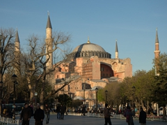Hagia Sophia just before sunset