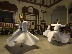 Another angle of the whirling dervishes
