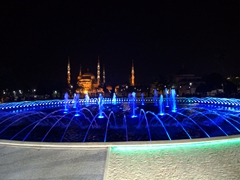 Night shot of the Blue Mosque