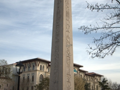 This Egyptian obelisk was removed from the Temple of Karnak at Thebes (now Luxor) and relocated to the Hippodrome of Constantinople