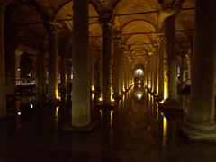 """6th century Basilica Cistern (aka """"sunken palace"""")"""