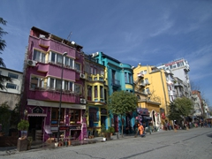 Colorful buildings in Sultanahmet district