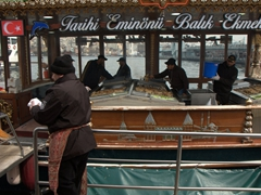 Eminönü's floating fish restaurant