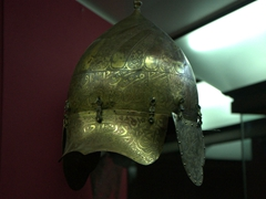 Detail on a Turkish helmet; Military Museum