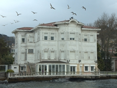 Example of an Ottoman waterfront mansion seen on the Bosphorus Cruise
