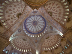 Ceiling view of the gorgeous Blue Mosque