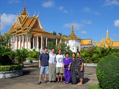 Group picture in front of the Silver Pagoda; Phnom Penh