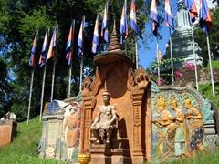 Wat Phnom (mountain pagoda) in Phnom Penh