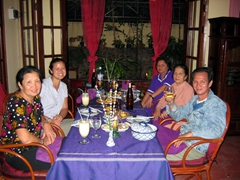 Enjoying dinner in Phnom Penh