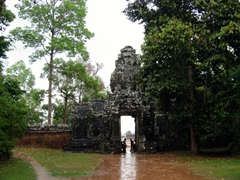 A rainy entrance to Banteay Kdei Temple Complex