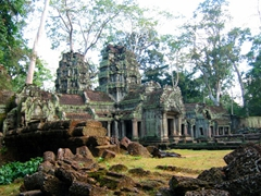 "View of Banteay Kdei, also known as ""Citadel of Monk's Cells"", a Buddhist Temple in Angkor"
