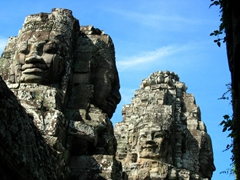 Banyon faces; Angkor
