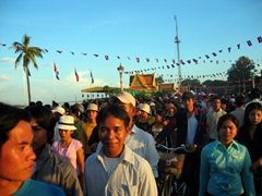 Revelers head out to the Bon Om Thook (Water Festival), Phnom Penh