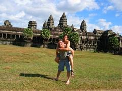 A goofy self portrait; Angkor Wat