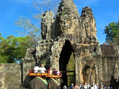 Entrance portal for Angkor Thom