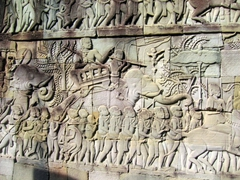 Banyon's spectacular wall carvings (the temple is adorned with 4,000 feet of bas-relief carvings)