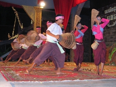A Cambodian folk dance involving fish baskets
